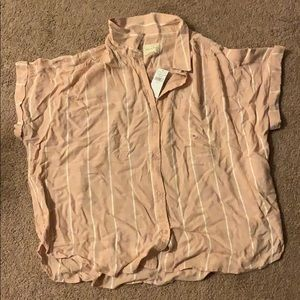 American Eagle Short Sleeve Button Down Size XL